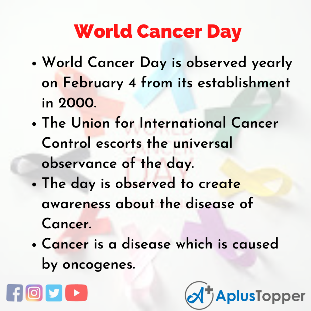 10 Lines about World Cancer Day