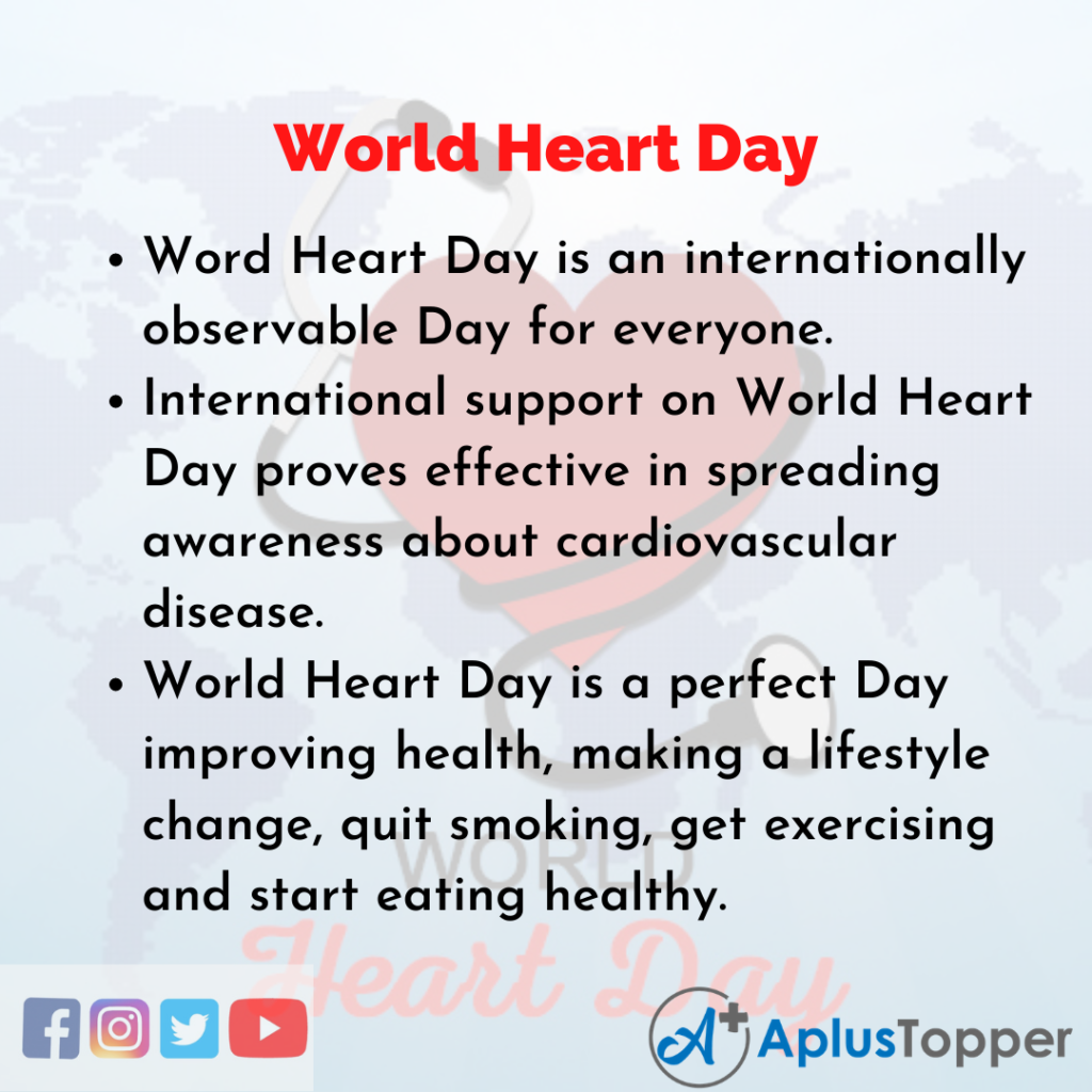 10 Lines about World Heart Day