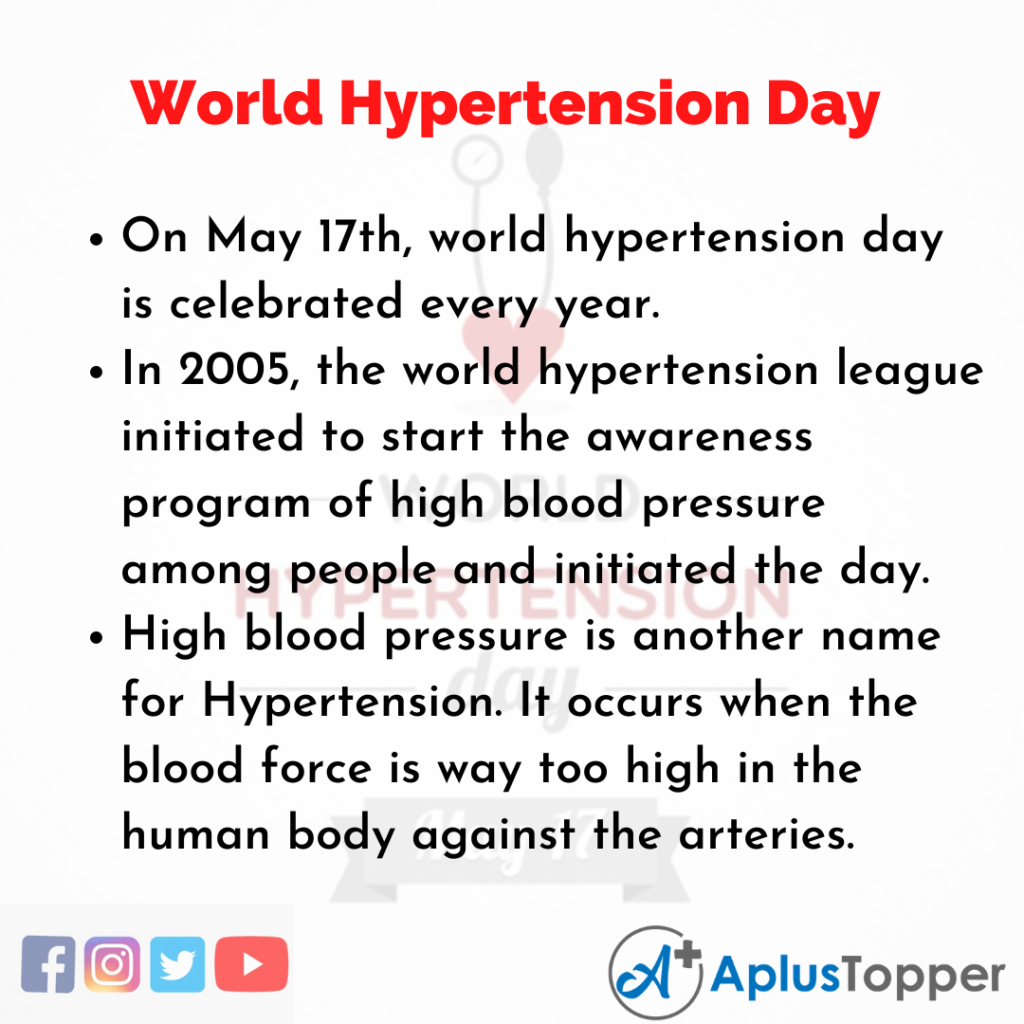 10 Lines about World Hypertension Day