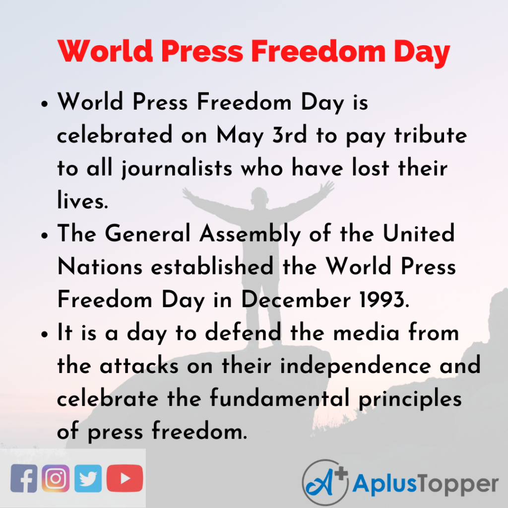 10 Lines about World Press Freedom Day