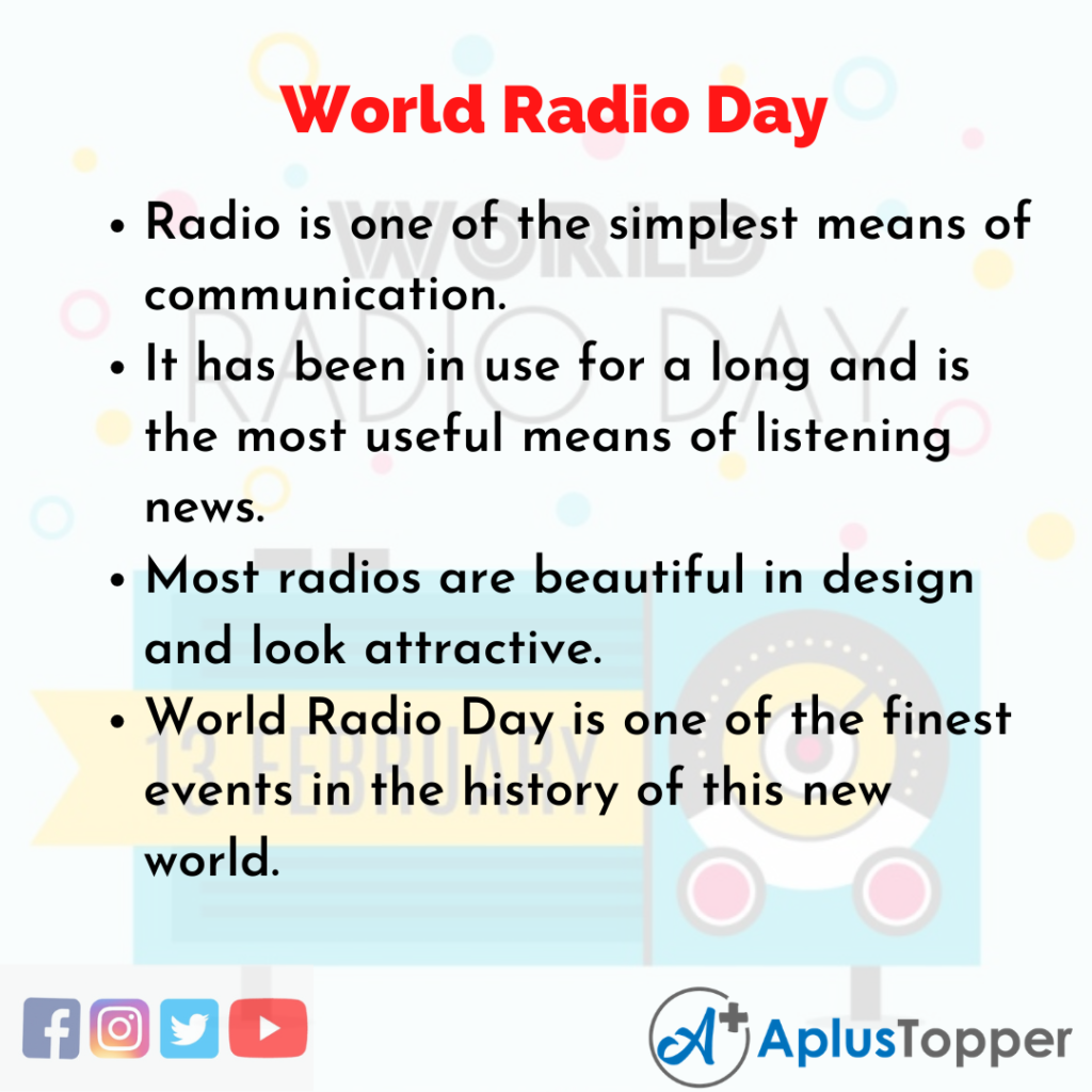 10 Lines about World Radio Day