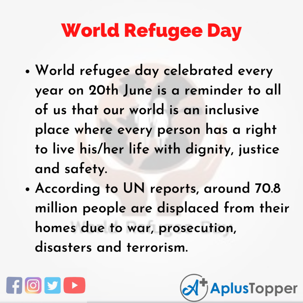 10 Lines about World Refugee Day