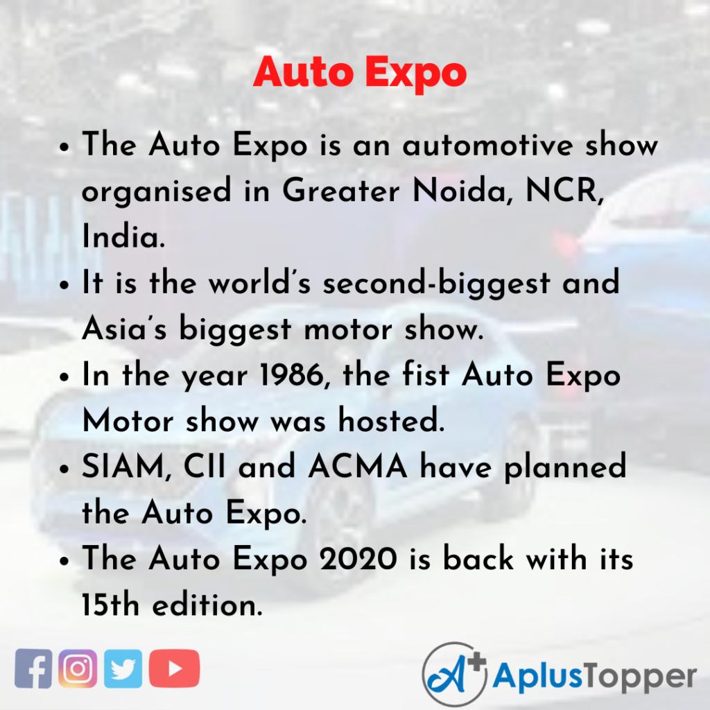 10 Lines of Auto Expo