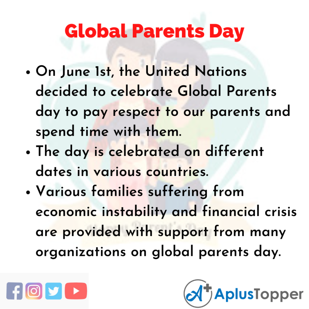 10 Lines of Global Parents Day