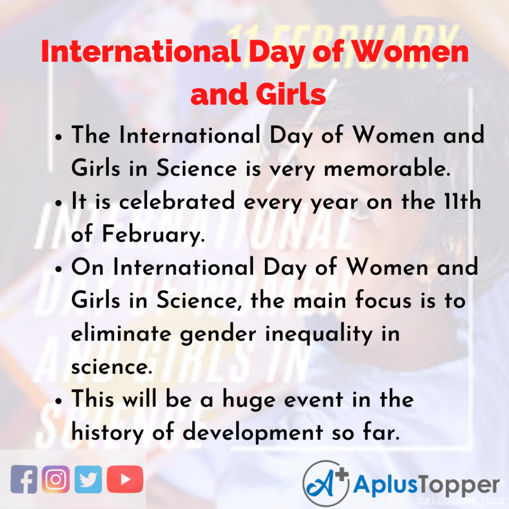 10 Lines of International Day of Women and Girls