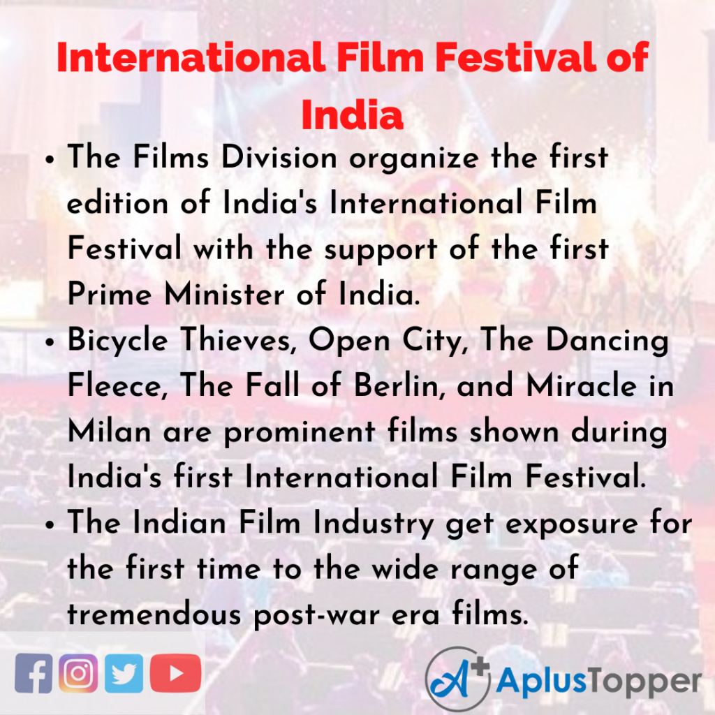 10 Lines of International Film Festival of India