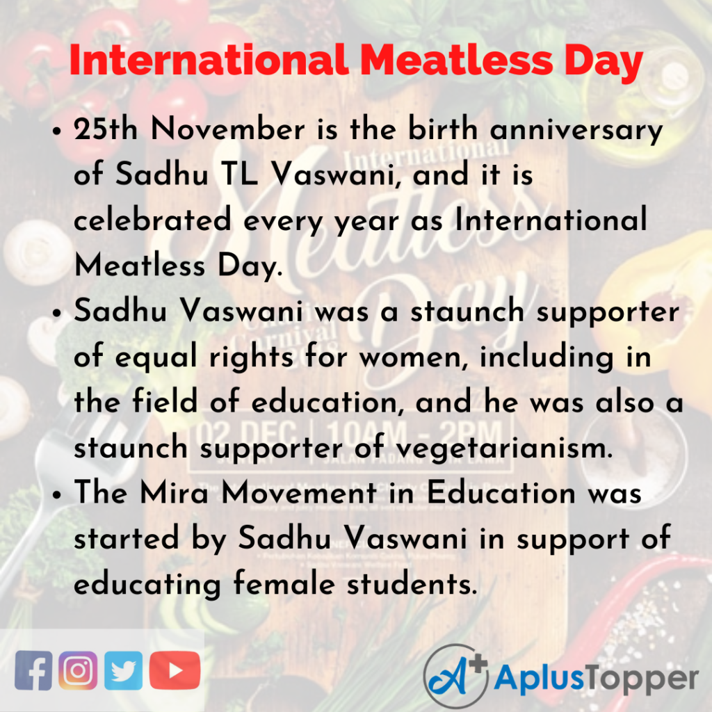 10 Lines of International Meatless Day