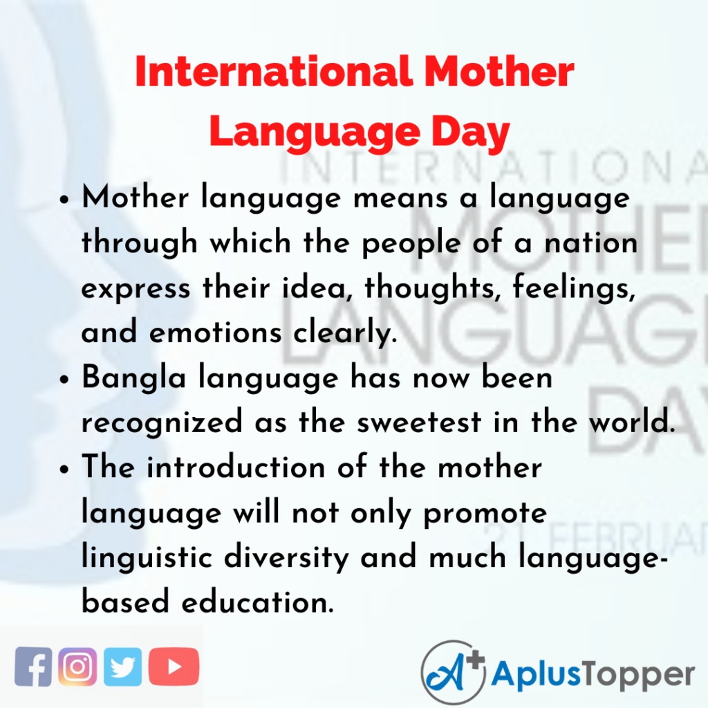 10 Lines of International Mother Language Day