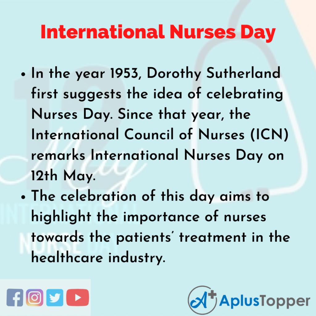 10 Lines of International Nurses Day