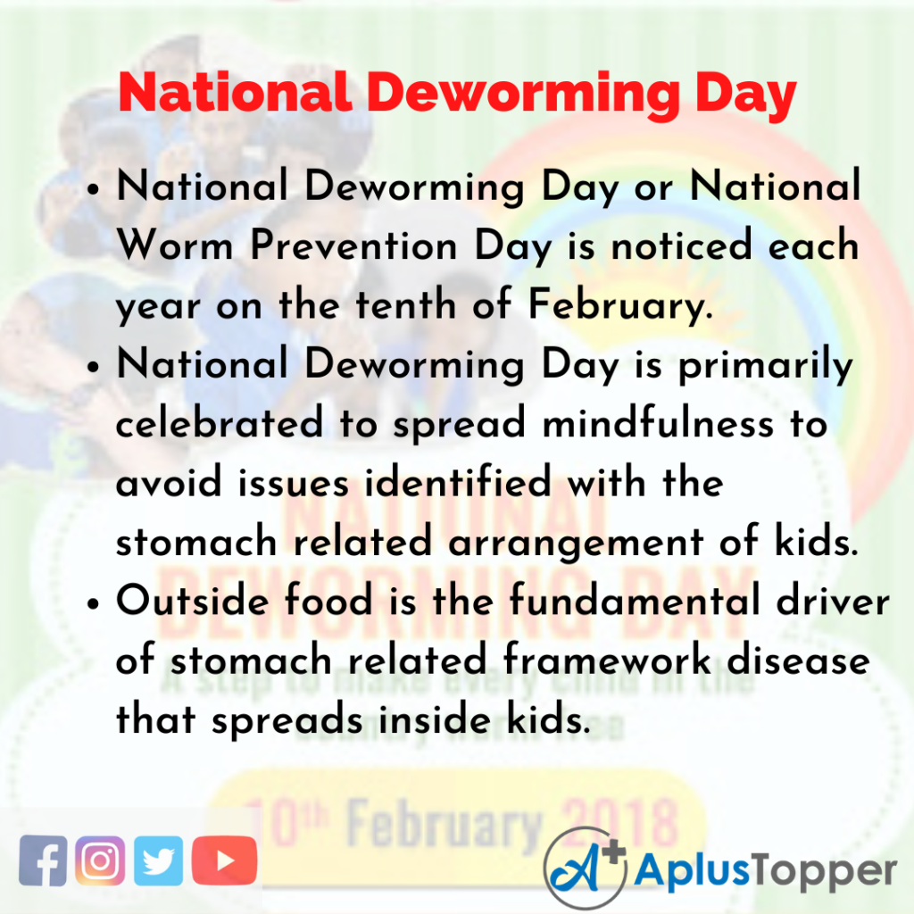 10 Lines of National Deworming Day