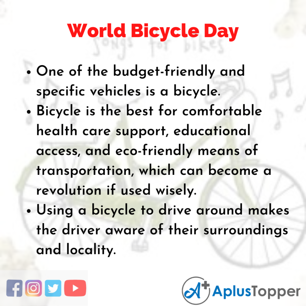 10 Lines of World Bicycle Day