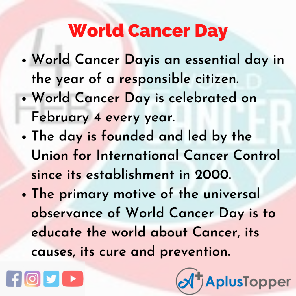 10 Lines of World Cancer Day