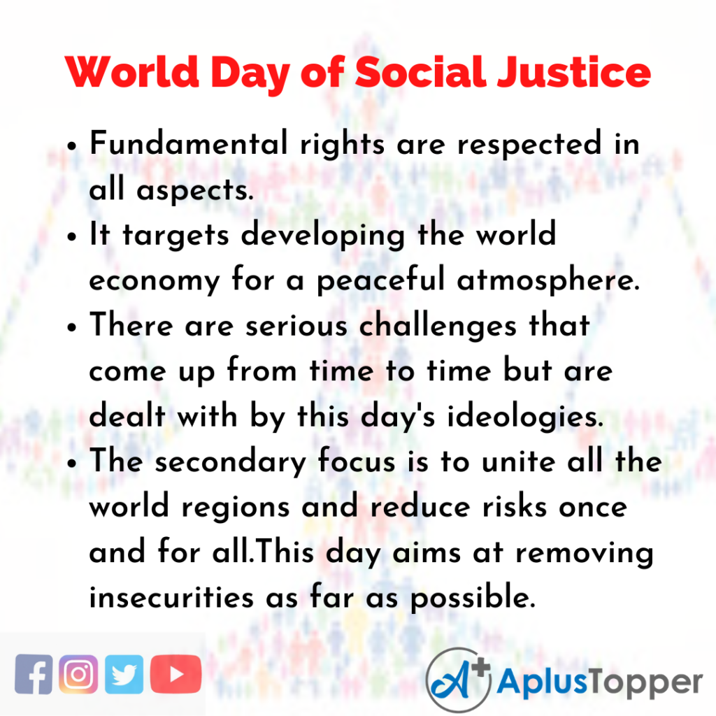 10 Lines of World Day of Social Justice