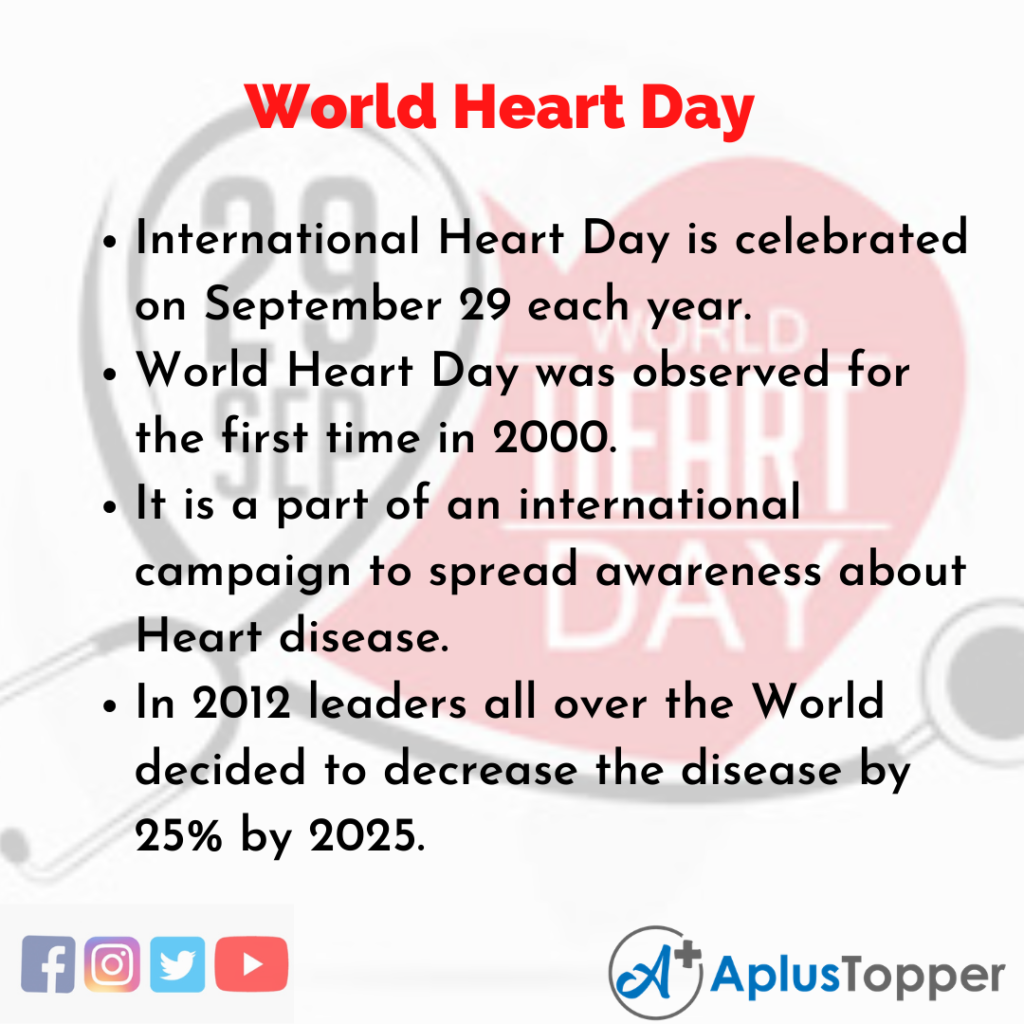 10 Lines of World Heart Day