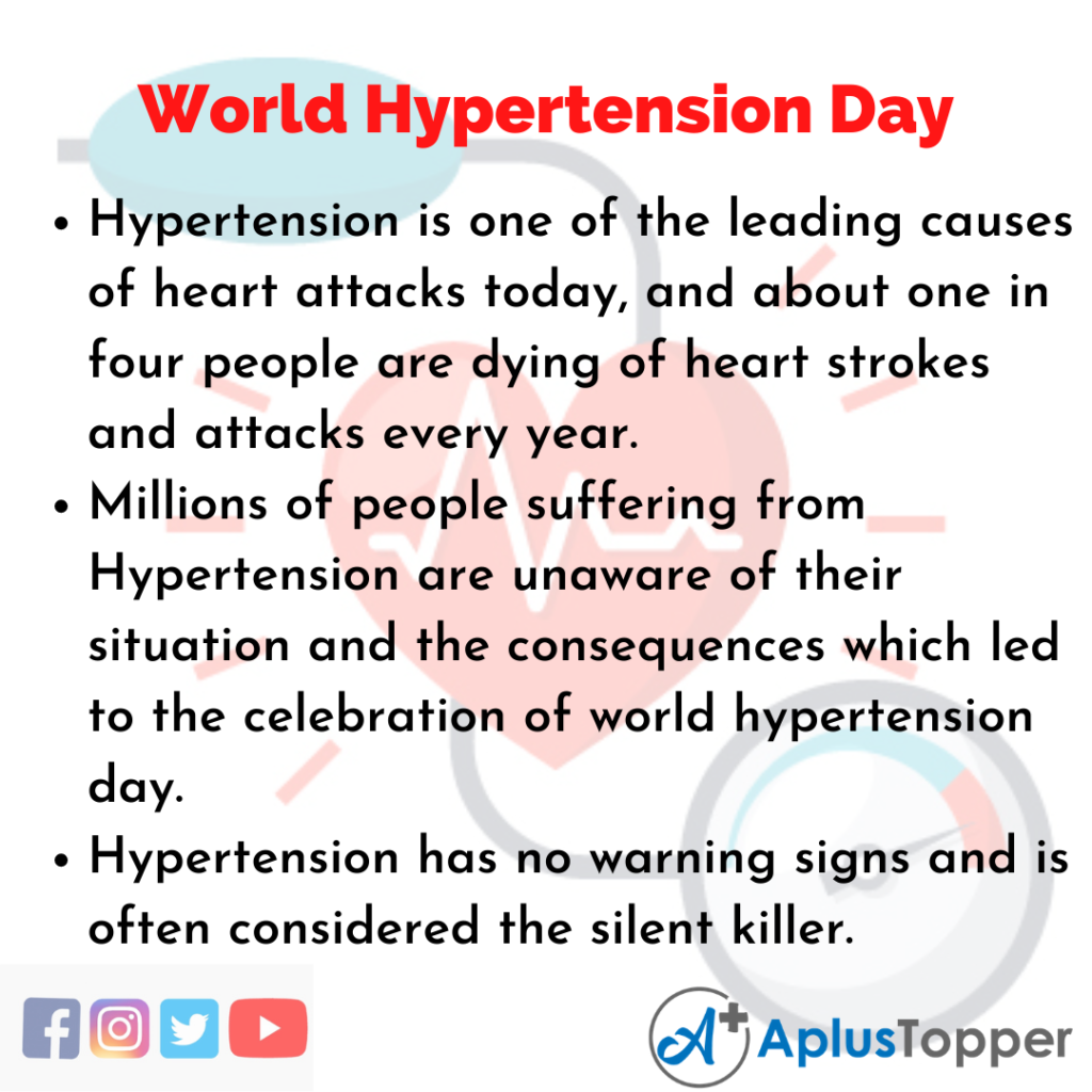 10 Lines of World Hypertension Day
