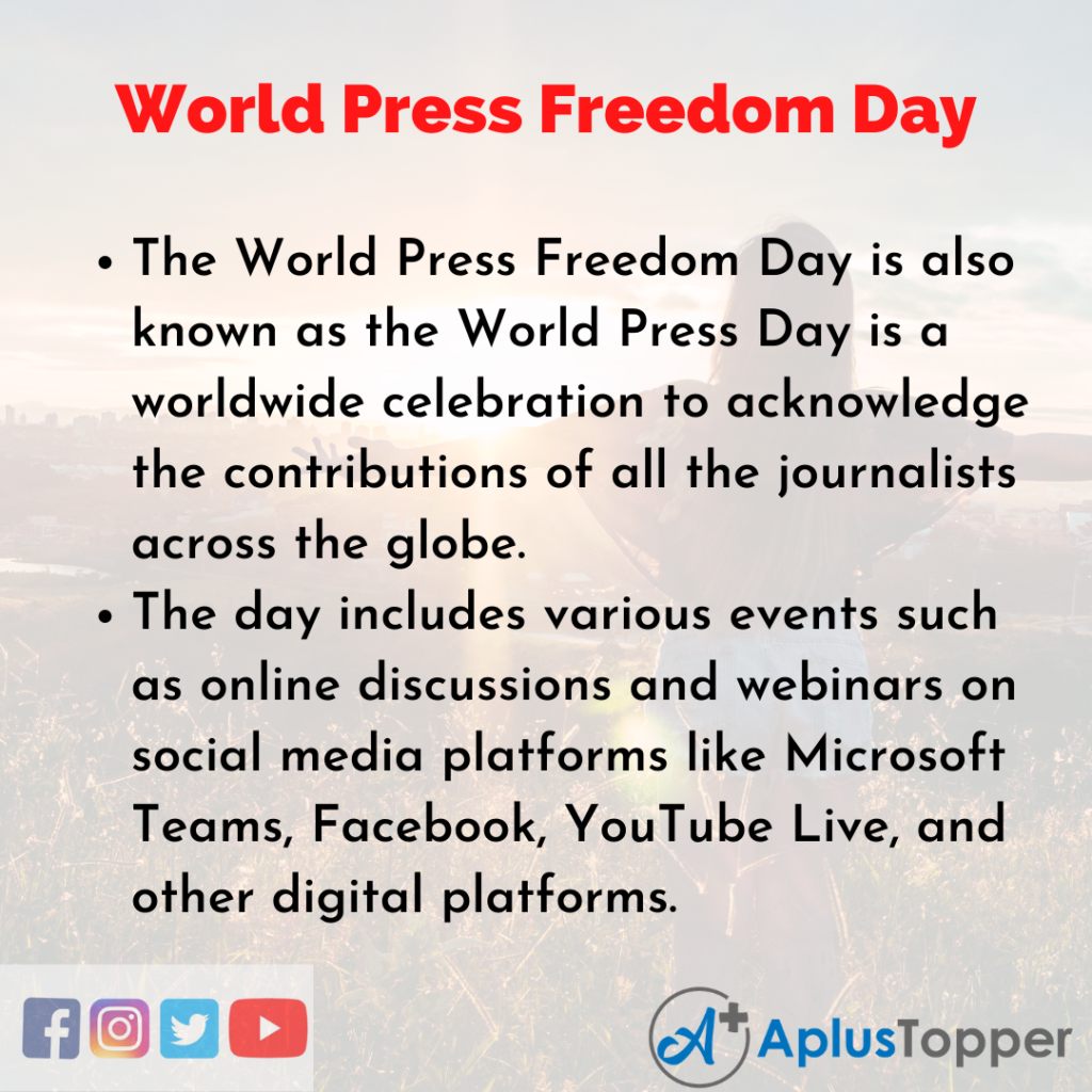 10 Lines of World Press Freedom Day