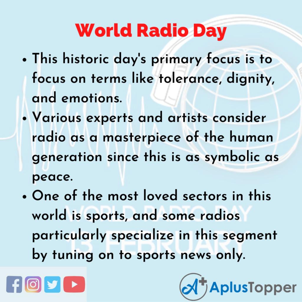 10 Lines of World Radio Day