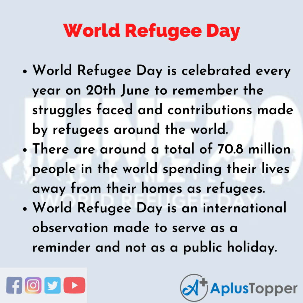 10 Lines of World Refugee Day