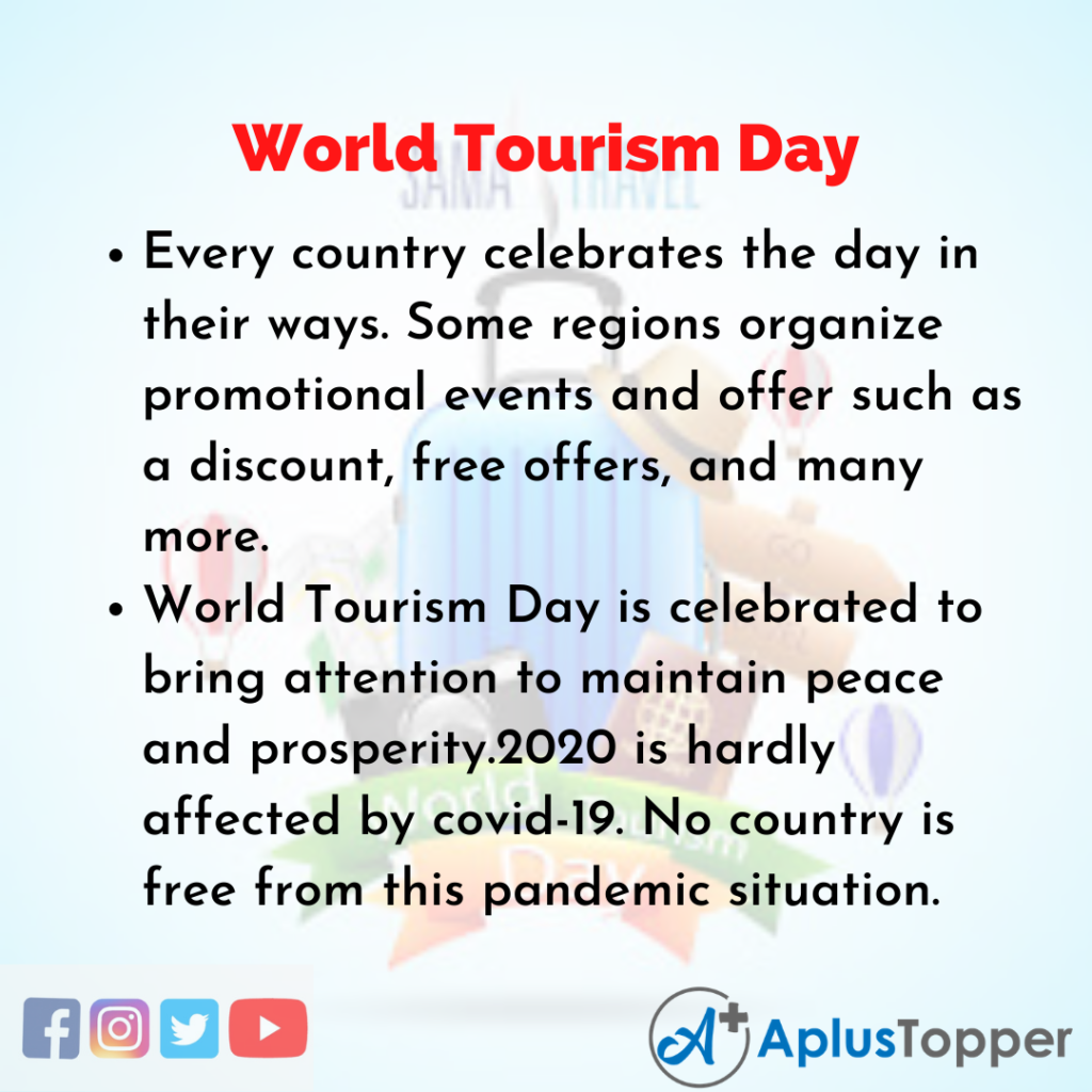 10 Lines of World Tourism Day
