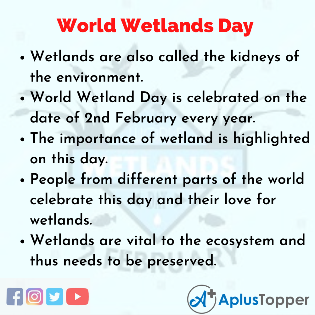 10 Lines of World Wetlands Day