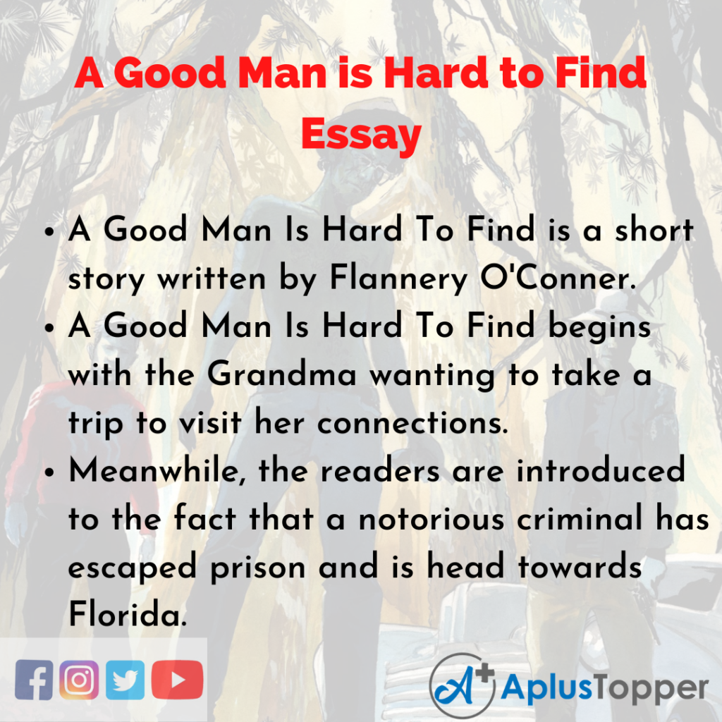 Essay about A Good Man is Hard to Find