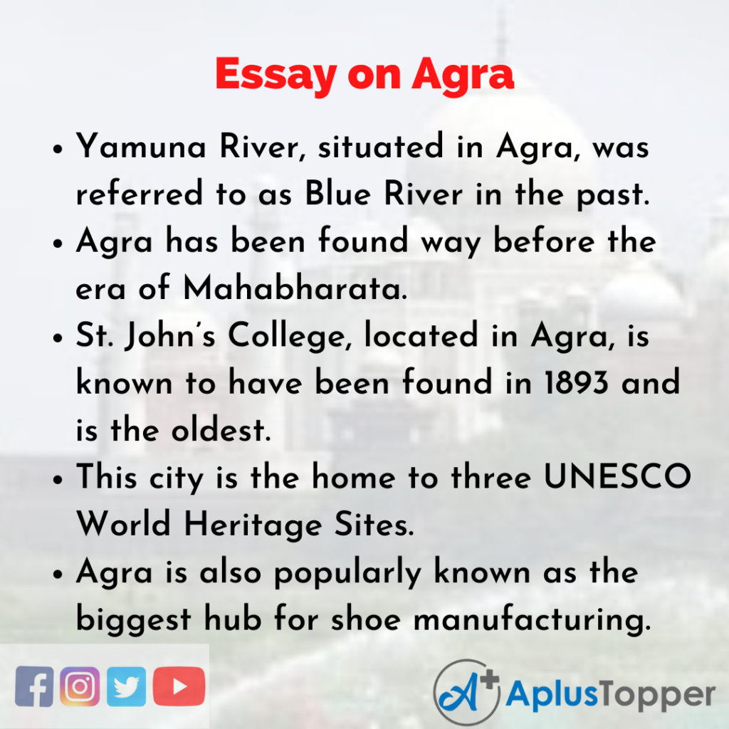 Essay about Agra