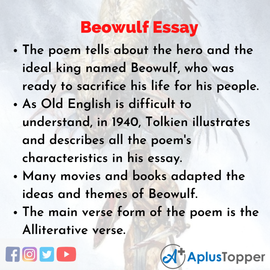 Essay about Beowulf