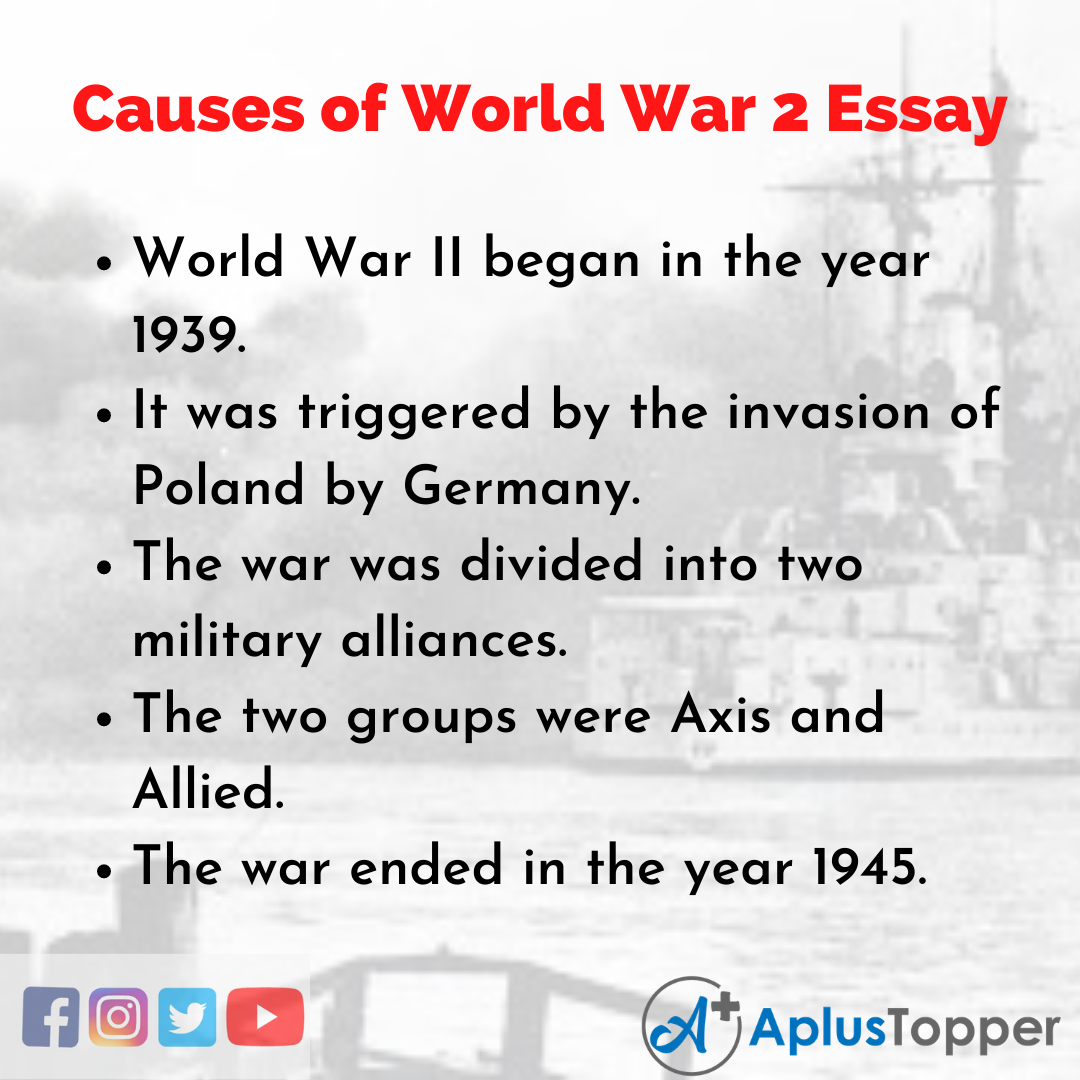 Essay about Causes of World War 2