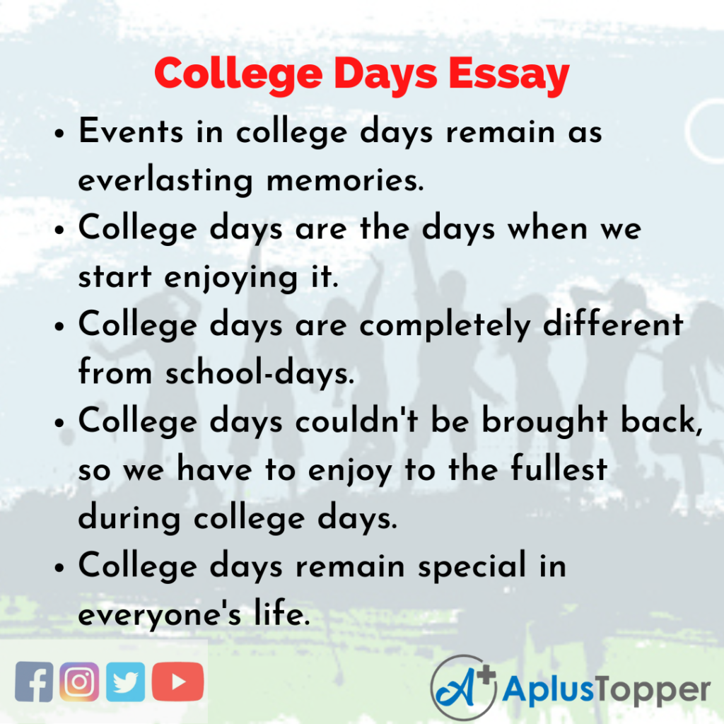 Essay about College Days