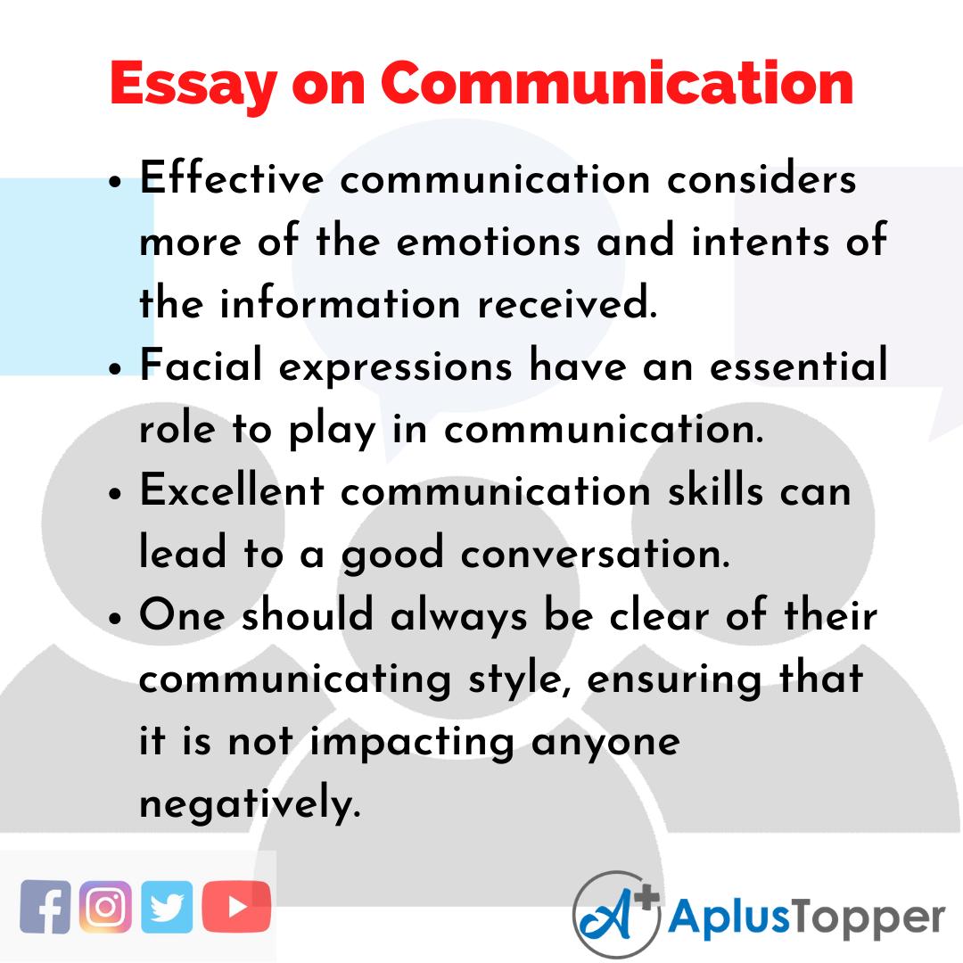 essay good communication english