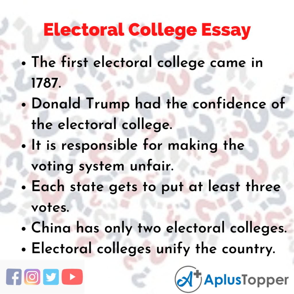 Essay about Electoral College