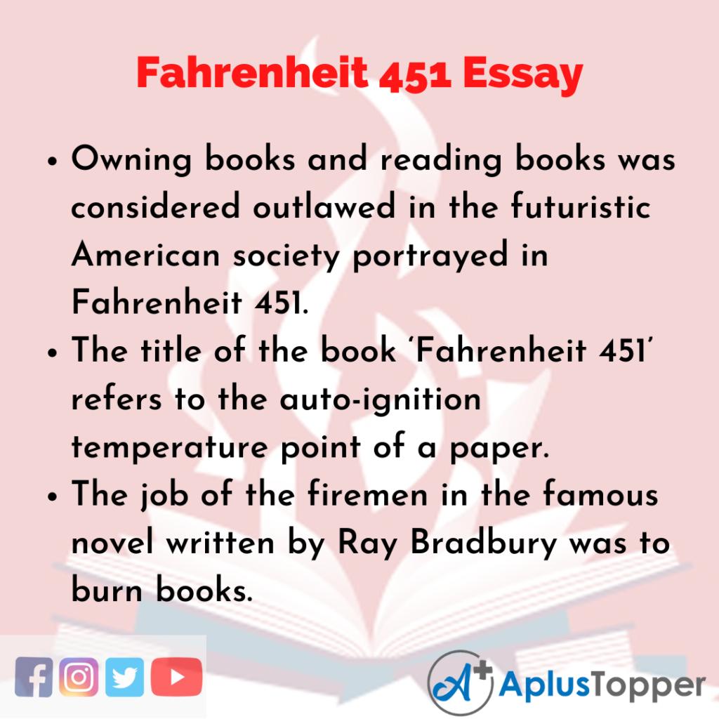 Essay about Fahrenheit 451