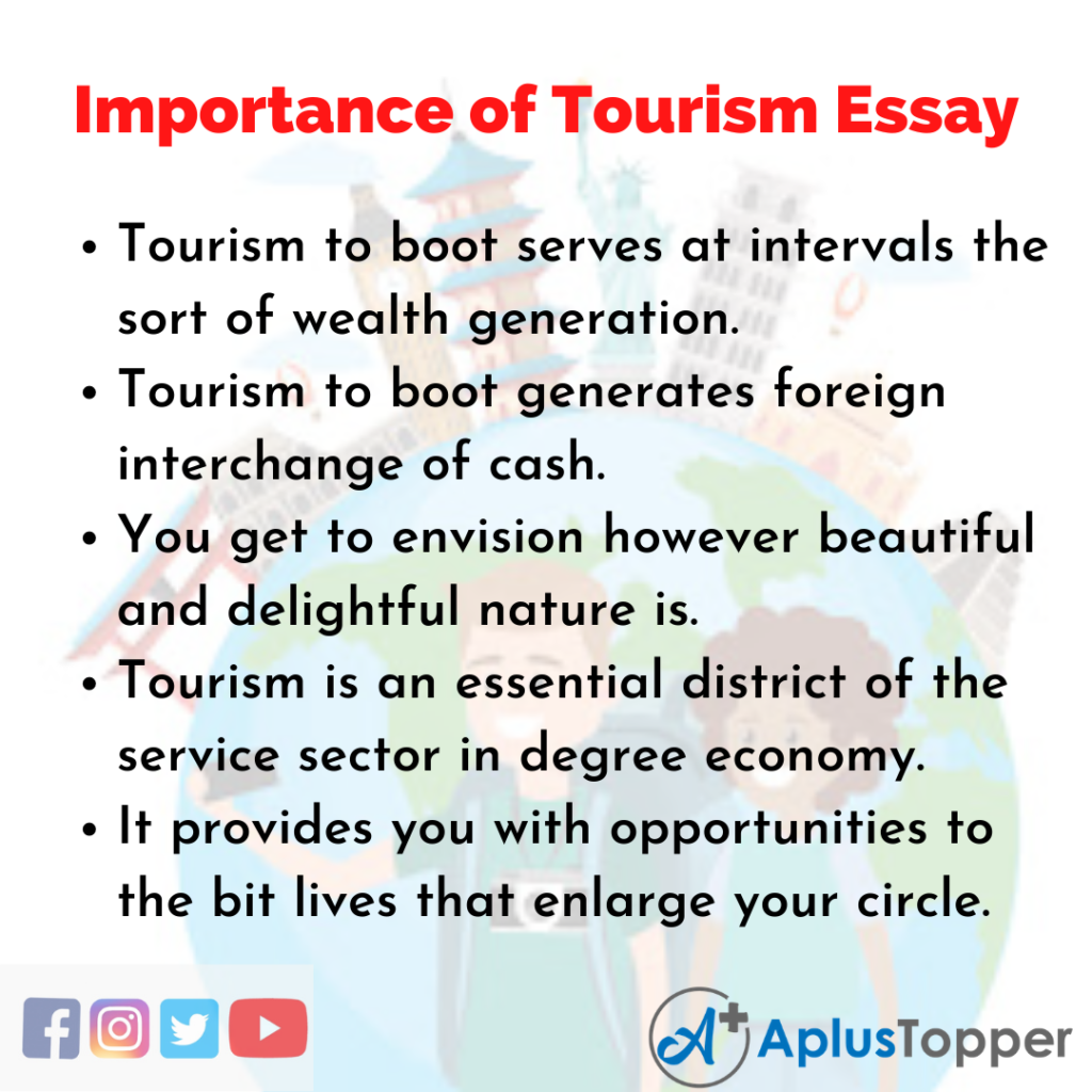 Essay about Importance of Tourism