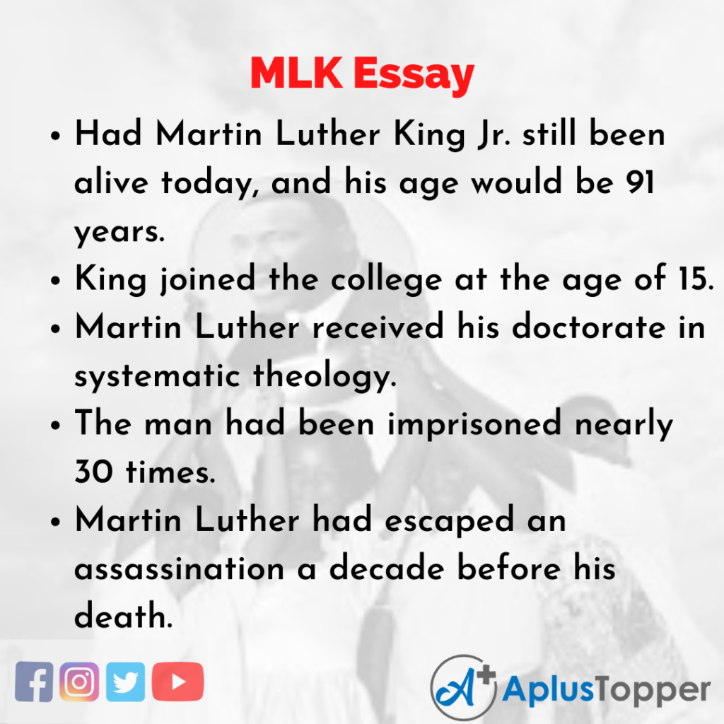 Essay about MLK