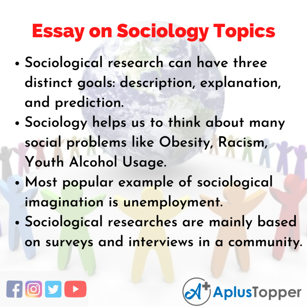 Essay about Sociology Topics