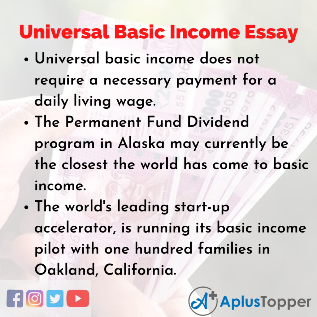 Essay about Universal Basic Income