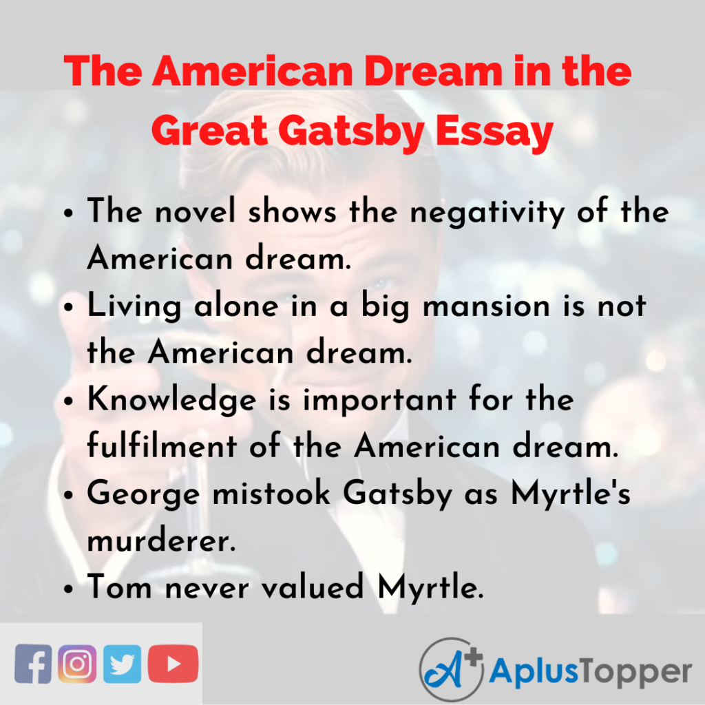 Essay about the American Dream in the Great Gatsby