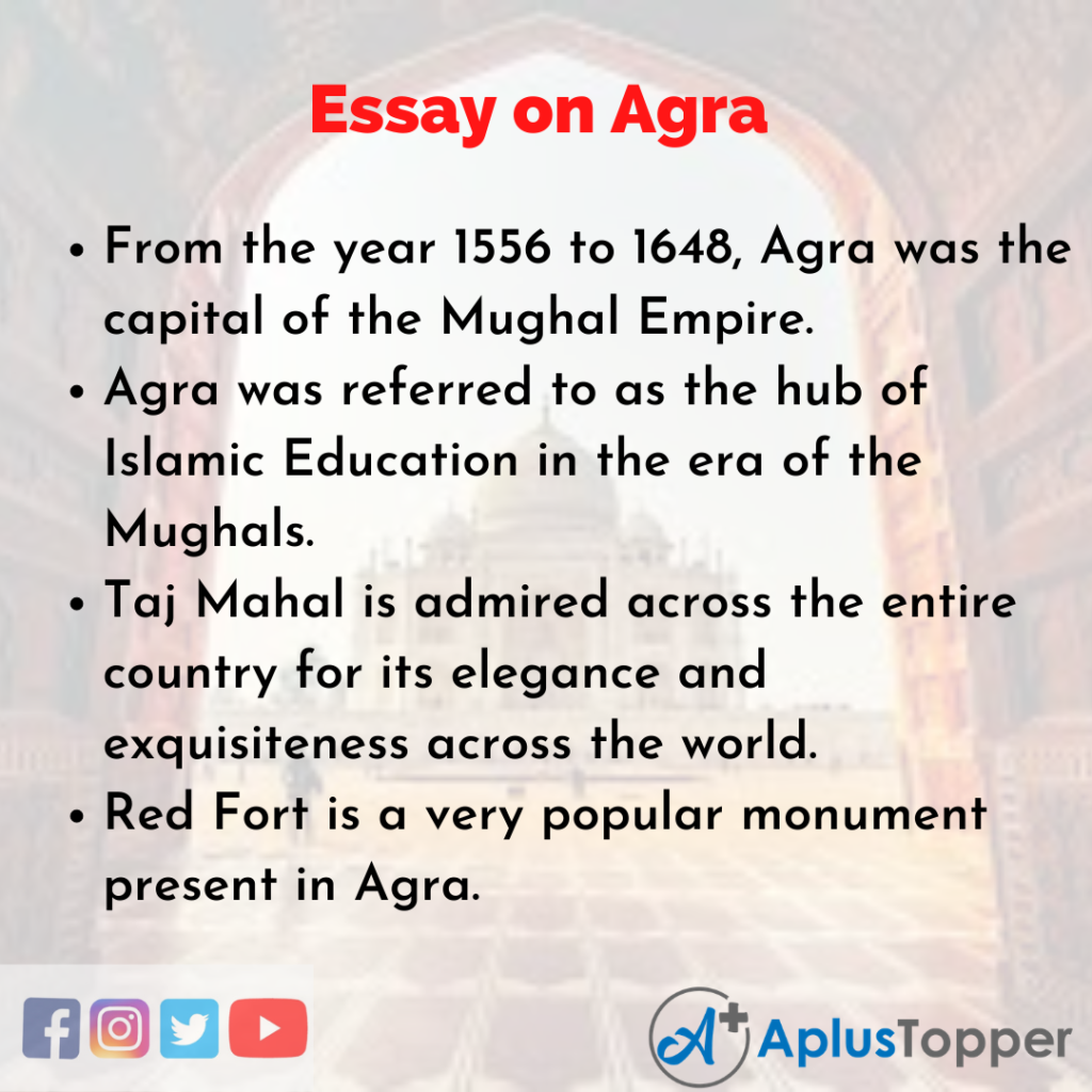 Essay on Agra