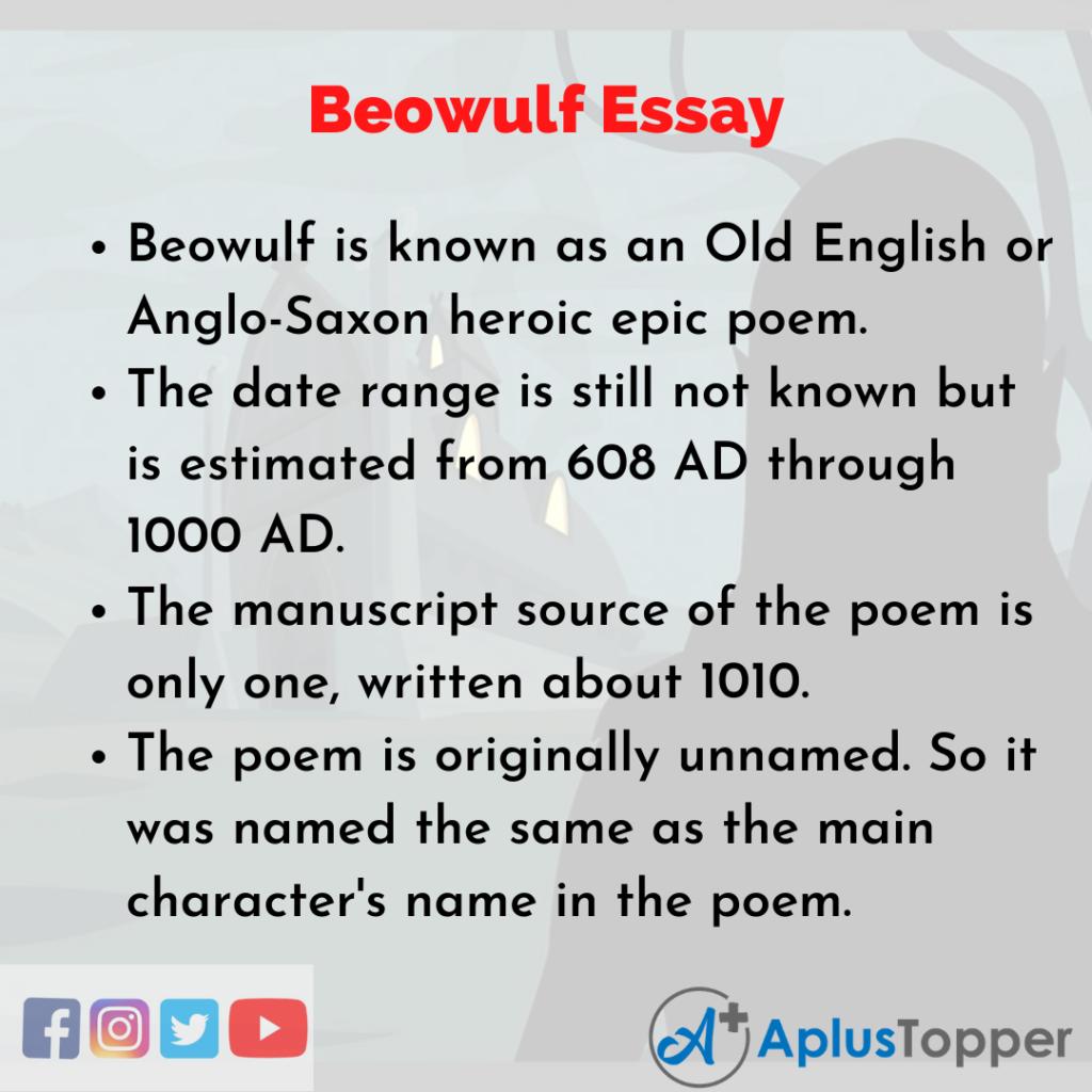 Essay on Beowulf