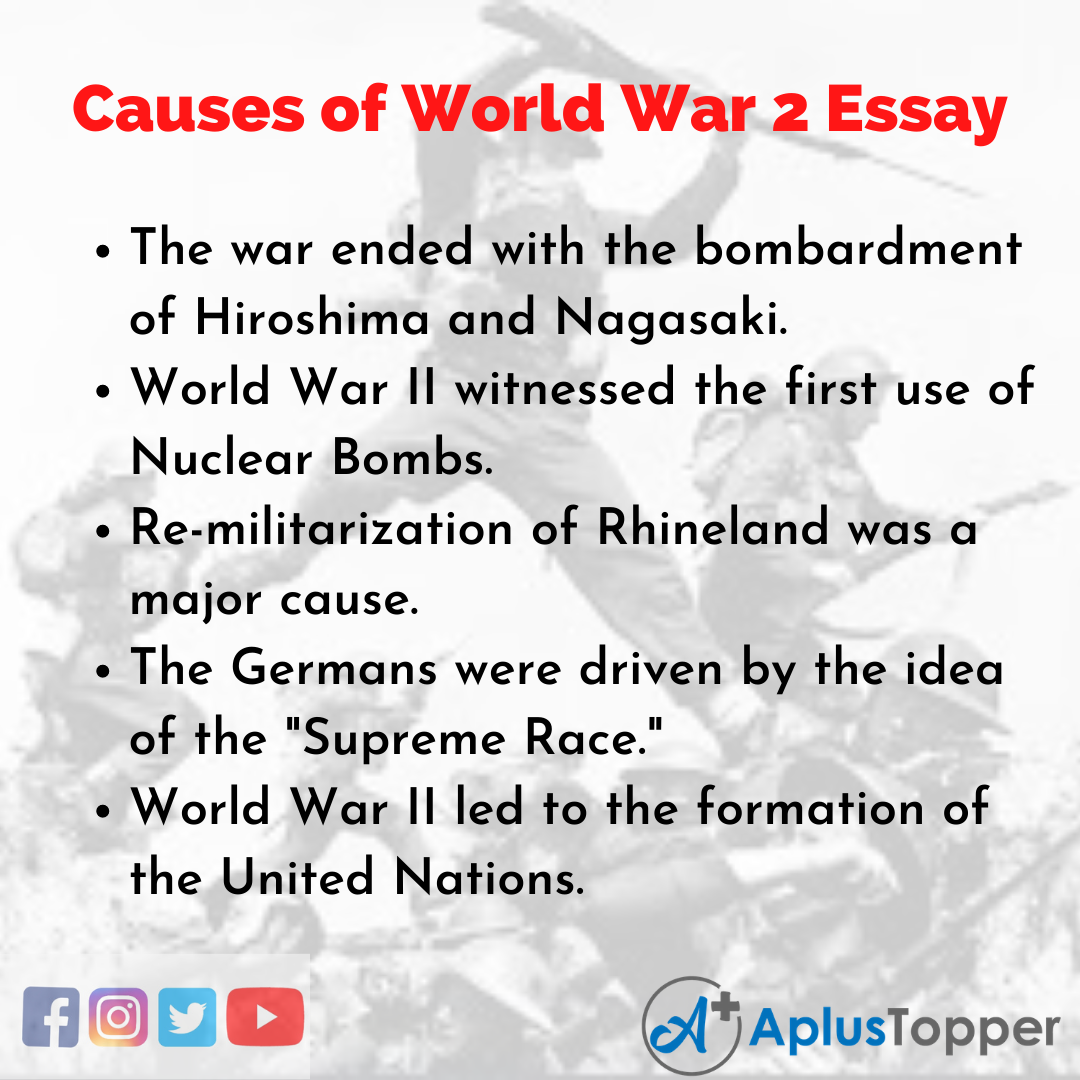 Essay on Causes of World War 2