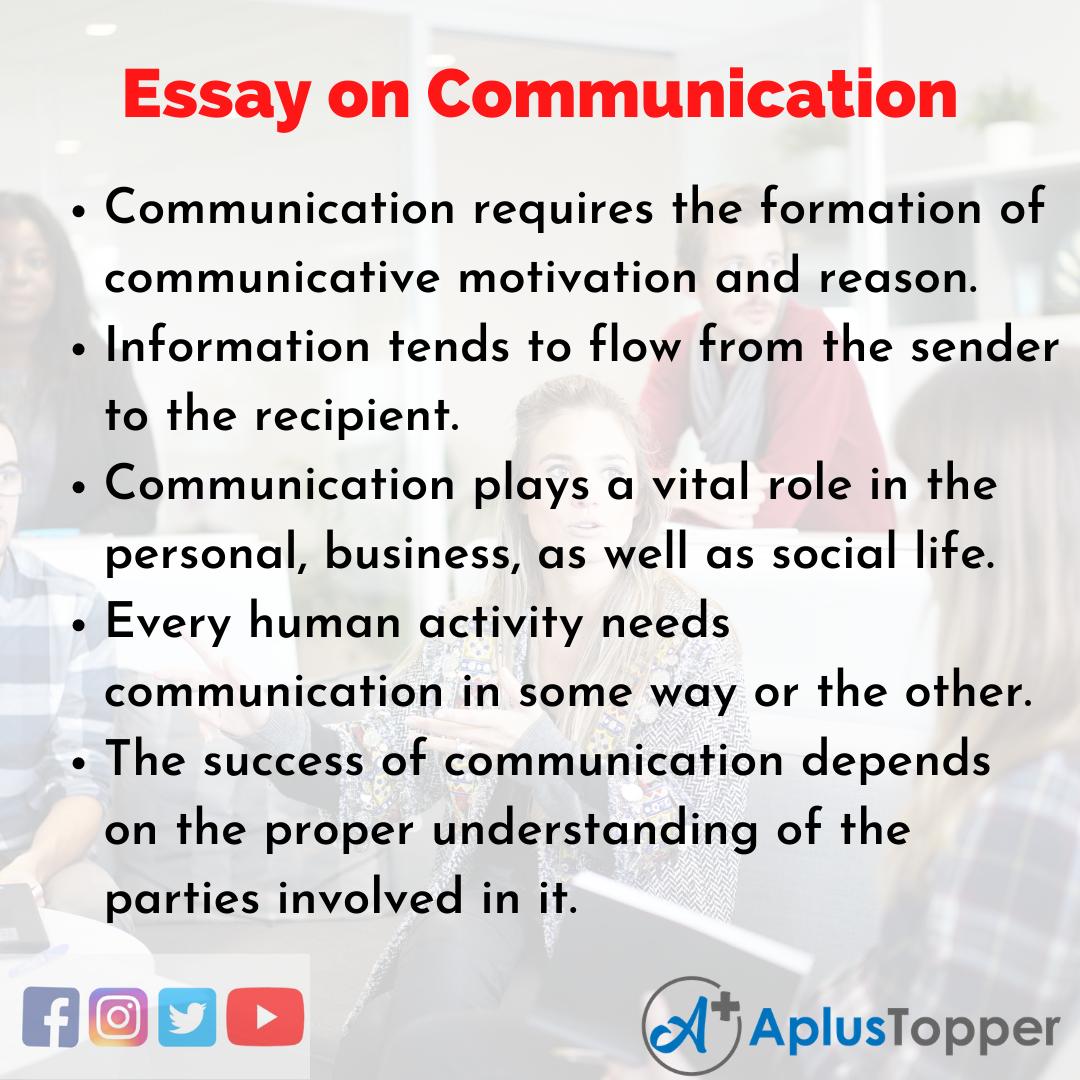 Essay good communication english originality verification for essays