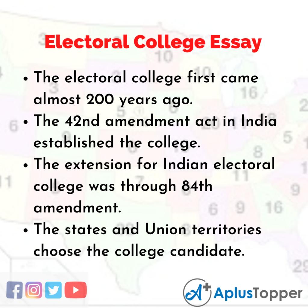 Essay on Electoral College