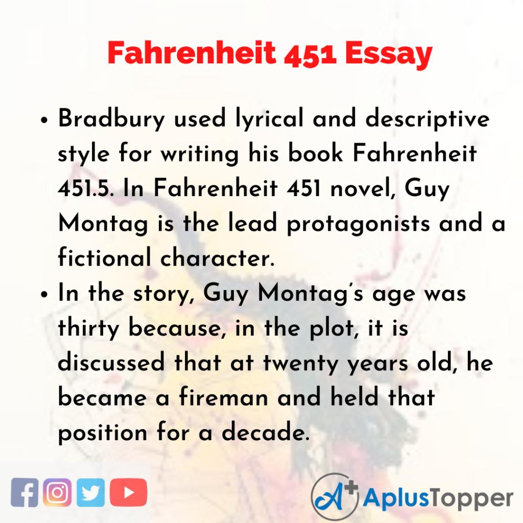 Essay on Fahrenheit 451