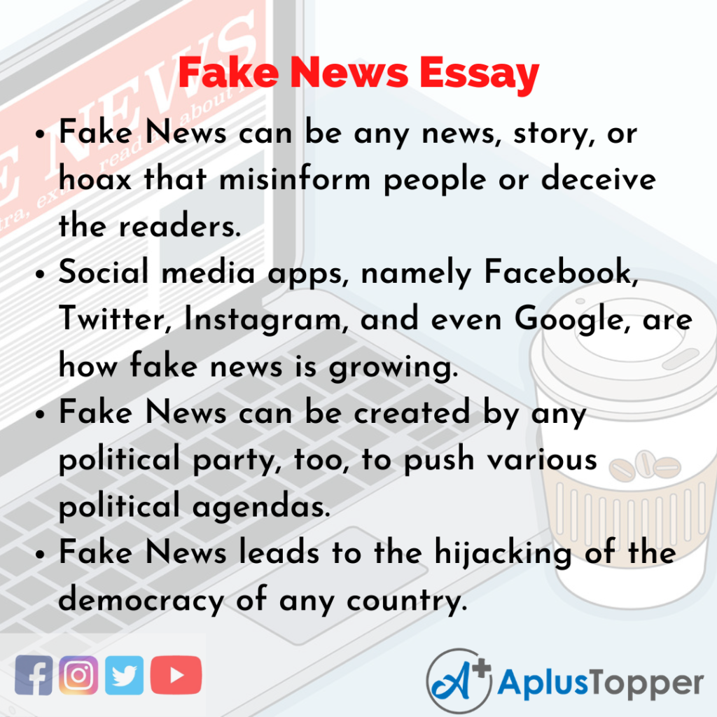 Essay on Fake News