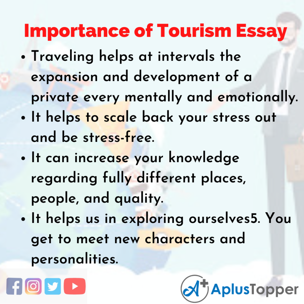 Essay on Importance of Tourism