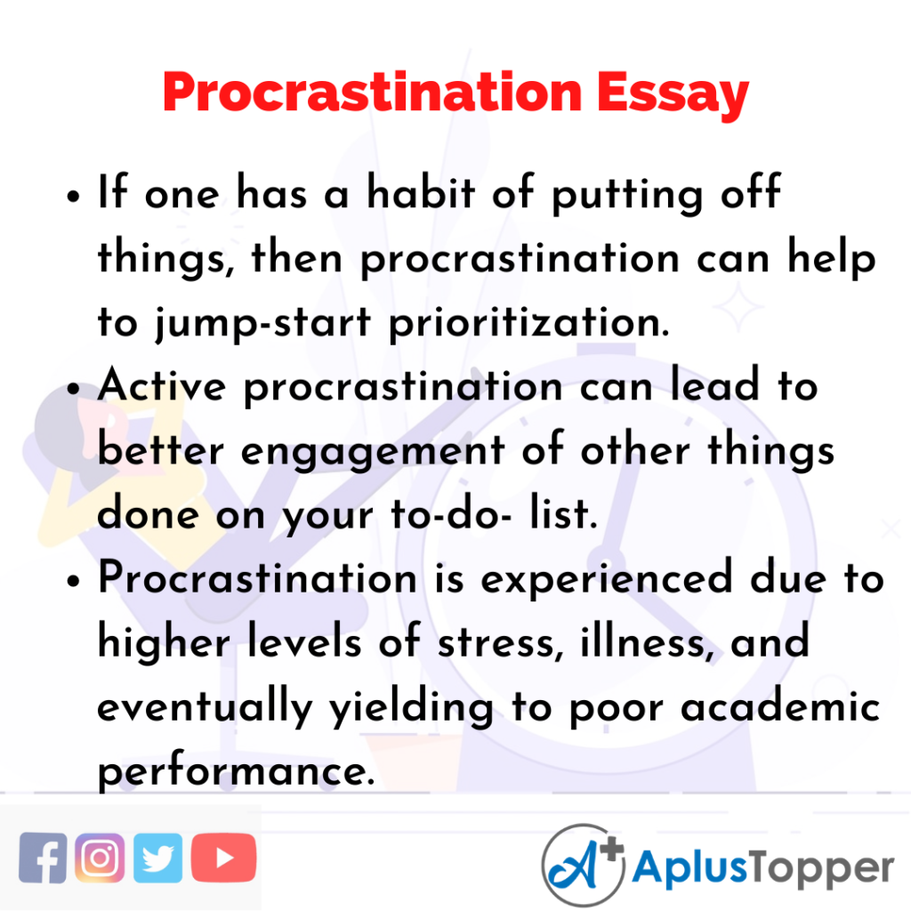 Essay on Procrastination