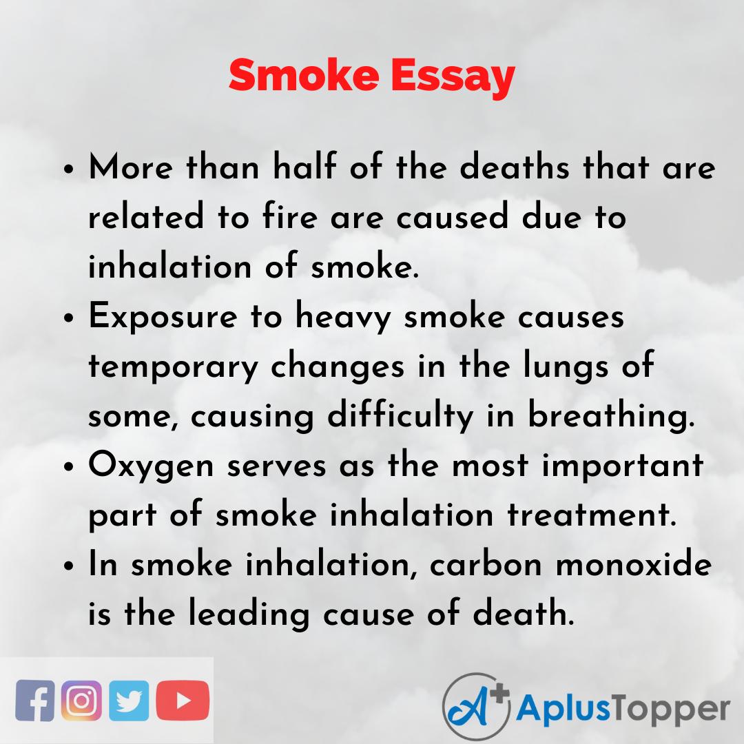 Essay on Smoke