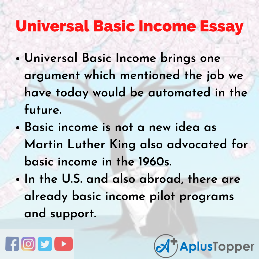 Essay on Universal Basic Income