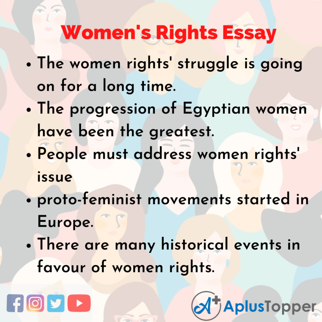 Essay on Women's Rights