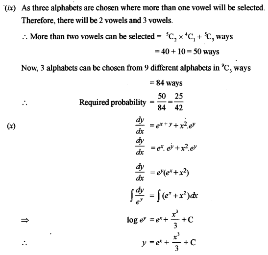 ISC Maths Question Paper 2011 Solved for Class 12 image - 11